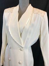 Vintage R & M RICHARDS by KAREN KWONG Ivory Evening Party Dress Sequins sz 8