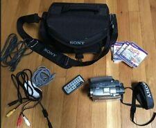 Sony HANDYCAM DVD Mega Pixel 3.5 Hybird LCD Carl Zeiss DCR-DVD 301 Bundle w/case