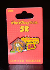 New Walt Disney World Pin Trading Family Fun 5K Marathon Run Pluto doghouse 2015