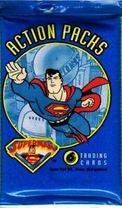 Fleer 1996 Superman Action Packs Factory Sealed Trading Card Pack