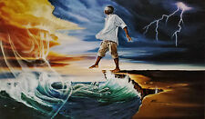 "African American Art ""Step Out on Faith (Man)"" Religious Art Print by WAK"
