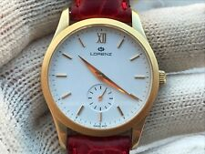 LORENZ SOLID GOLD 18K MANUAL ETA 7001 MENS 35mm SWISS MADE IN EXELLENT CONDITION