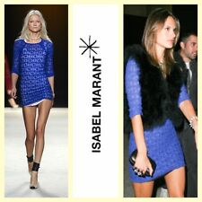 Isabel Marant $470 'Dali' royal blue stretch lace dress~S/XS