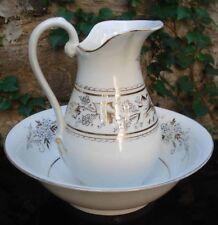 """"""" Toilette """" porcelaine Vieux-Paris Body Pitcher & Wash Basin"""