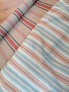 Ralph Lauren fabric stripe cotton ticking blue herringbone classic 140x50cm