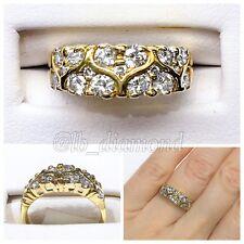 Diamond Band 0.98ct Round Cut Diamonds 14k Yellow Gold