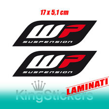 2 ADESIVI FORCELLE WP SUSPENSION moto stickers YAMAHA HONDA KTM MOTOCROSS SUZUKI