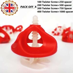 UK HOT SELLING TILE SPACERS Twister Levelling System 2mm Spacer
