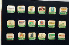Cricket - Set of 18 -England - National Cricket League Badges - Pins in Case