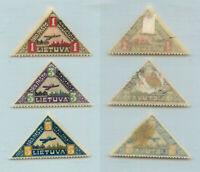 Lithuania 1922 SC C15-C17 mint. rtb3561