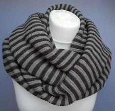 Loop Rundschal dunkel und hell grau Damen Winter Schal grobstrick 564