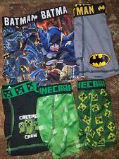 Toddler boy clothes underwear boxer briefs NEW washed minecraft batman