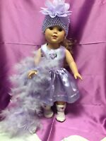 """18"""" Handmade DOLL CLOTHES Lilac Party Dress fits 18"""" American Girl Doll"""