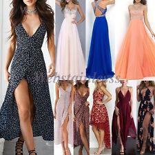 Womens Long Maxi Dress Prom Evening Party Summer Beach Boho Lot Holiday Dresses