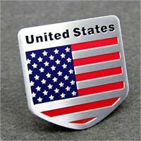 Car SUV Door/Fenders/Tailgate Metal American Flag Shield USA Logo Sticker Badge