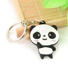 Keychain Keyring Metal Key Ring New Fashion Cartoon Silicone Pendant Mini Panda