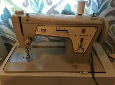 Vintage Singer Fashion Mate Sewing Machine Model 237 W/ Case & Manual