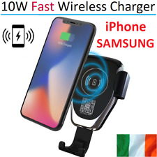 Qi Car Wireless Fast Charger Car 10W for iPhone 8 X XR XS Samsung Phone Holder