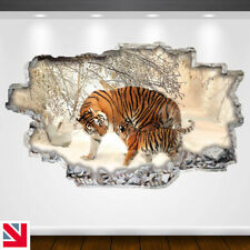 TIGER SNOW CUB ANIMALS BIG CAT Wall Sticker Decal Vinyl Art A4