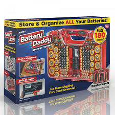 Battery Daddy Organizer and Storage System Case with Tester Home Tool Set
