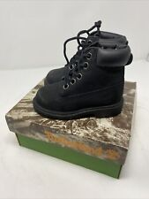 "VTG Timberland Toddler Boots Leather 6"" Hiking Black 10810 Sz 5 NOS"