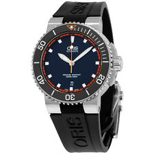 Oris Aquis Automatic Black Dial Silicone Strap Men's Watch 73376534128RS