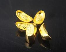 Chinese Brass Wealth Lucky Ancient Dynasty Yuanbao Ingots Bullions Gold Ingots