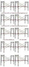 "10 Set of 3' X 6'8"" X 10' Plastering Masonry Scaffold Frame Set Cbmscaffoldcom"