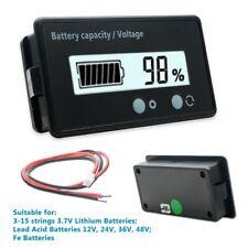 US LCD 12V 24V 48V Digital Display Battery Capacity Status Indicator Monitor