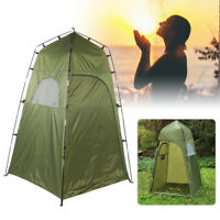 Outdoor Camping Beach Shower Tent Toilet w/ Zipped Window Privacy Change Room AD