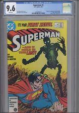 Superman #1 CGC 9.6 1987 DC 1st App & Origin New Metallo, John Byrne: New Frame
