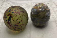 Two Vintage Paperweights Isle Of Wight & Mtarfa