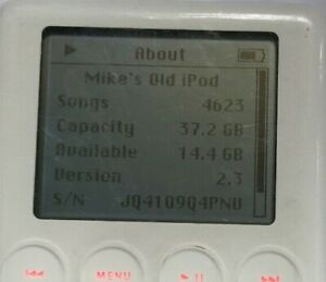 Apple iPod White (40gb) Classic 3rd Gen A1040 Fast Ship Good Used Need Battery