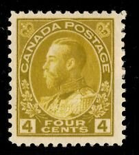 #110 George V  4c Canada mint well centered cv $80