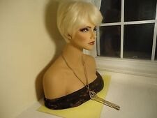 Vtg Antique Double Chain Necklace W/Pendant Gold Tone From 1930's-1980's    #80.