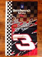 VINTAGE Dale Earnhardt Sr GM GOODWRENCH SERVICE PLUS NASCAR FLAG BANNER