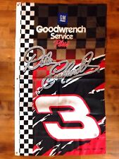 VINTAGE Dale Earnhardt Sr GM GOODWRENCH SERVICE PLUS NASCAR FLAG BANNER