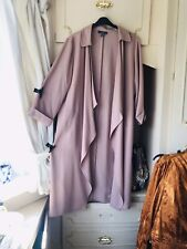 DUSKY PINK WATERFALL LONG DUSTER JACKET Dress Size 20/22/24 VGC