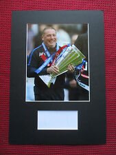 RANGERS LEGEND ALLY McCOIST AUTHENTIC HAND SIGNED A3 MOUNTED PHOTO DISPLAY - COA