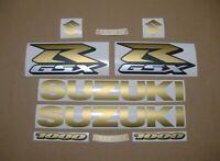 GSXR 1000 cc matte gold decals stickers graphics kit set satin gixxer logo k5 k1