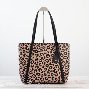 NWT Kate Spade New York Cara Tote Shoulder Bag in Leopard Print