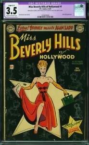 MISS BEVERLY HILLS OF HOLLYWOOD 1 CGC 3.5 SLIGHT RESTORED COWP NICE 1949 A7