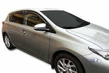 DTO29629 TOYOTA AURIS 5 DOOR  2013 - up  wind deflectors 4pc set TINTED HEKO