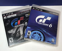 2 Game Lot: Gran Turismo 5 & 6 (Sony PlayStation 3, 2010/2013) TESTED See Pics