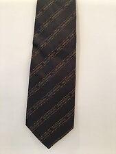 D&G Dolce And Gabbana 100% Authentic Dark Grey Tie Men's Vintage Rare!!