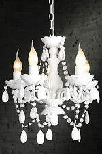 Design Lustre plafonnier 5-armig blanc Lampe suspendue 41cm x 37cm ( hxo )