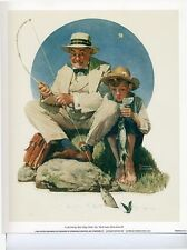 Norman Rockwell Saturday Evening Post CATCHING BIG ONE