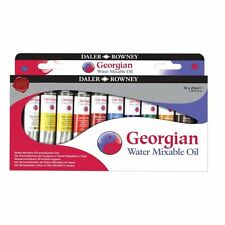Daler Rowney Georgian Water Mixable Oil Colour Introduction Set 10 x 20ml
