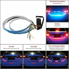 LED Blue DRL Red Brake Turn Signal Indication Trunk Boot Tailgate Strip Light