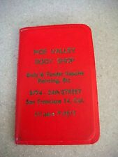 Vintage Noe Valley Body Shop personal notebook